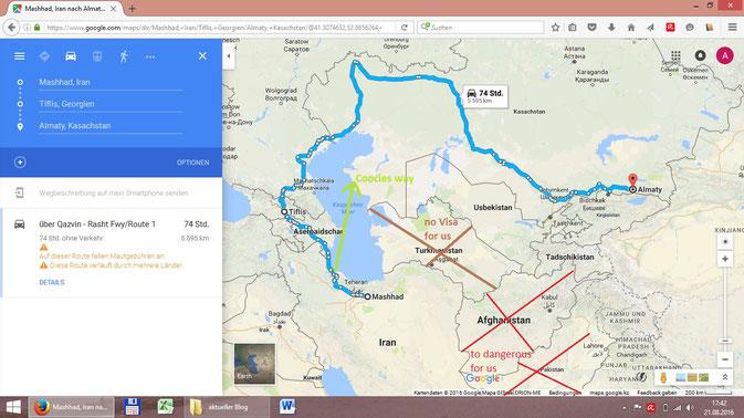 Robur Wohnmobil Verschiffung Iran Kazachstan