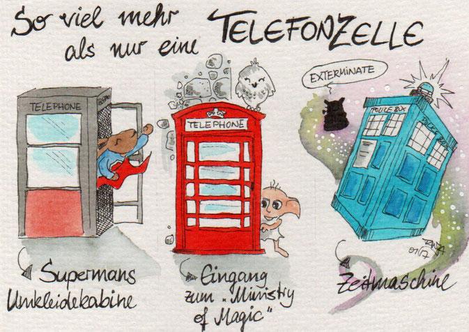 365-Tage-Doodle-Challenge - Stichwort: Telefon