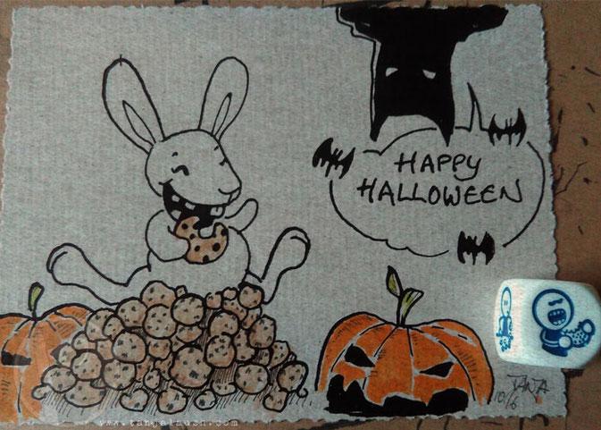 Inktober Batman Cookies Kürbis Halloween