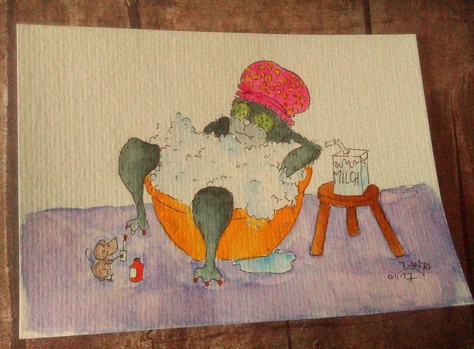 365-Tage-Doodle-Challenge - heute mit dem Thema: Schaumbad