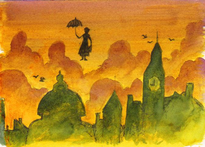 365-Tage-Doodle-Challenge - Stichwort: Regenschirm