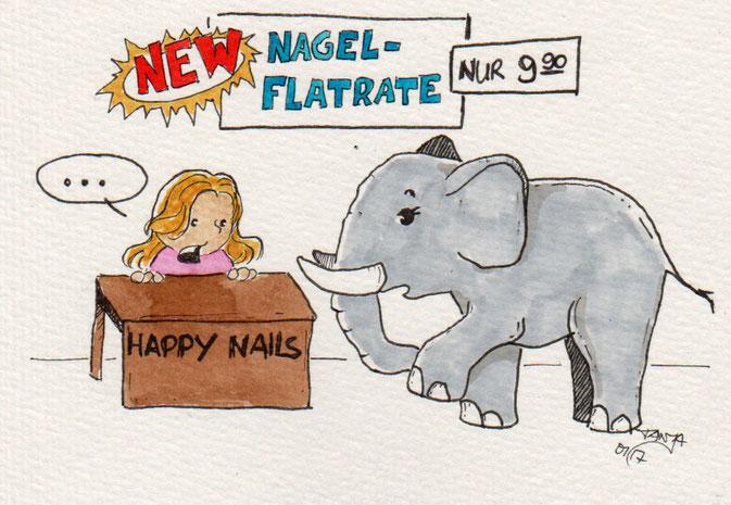 365-Tage-Doodle-Challenge - Stichwort: Nagellack
