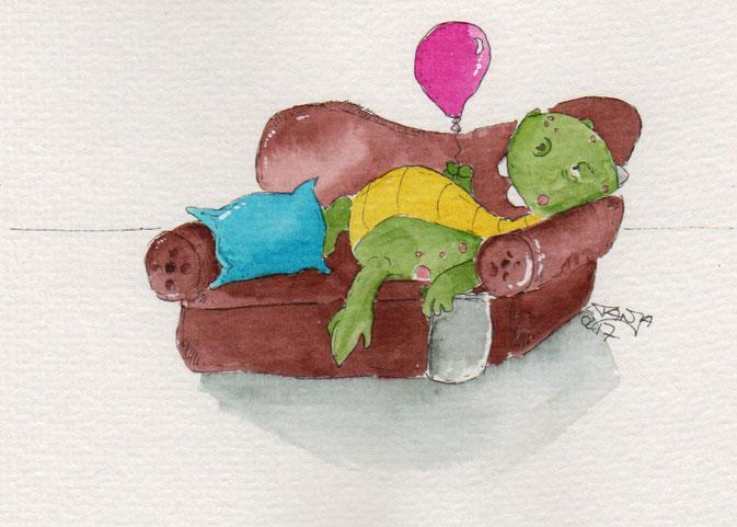 365-Tage-Doodle-Challenge zum Stichwort Couchpotatoe