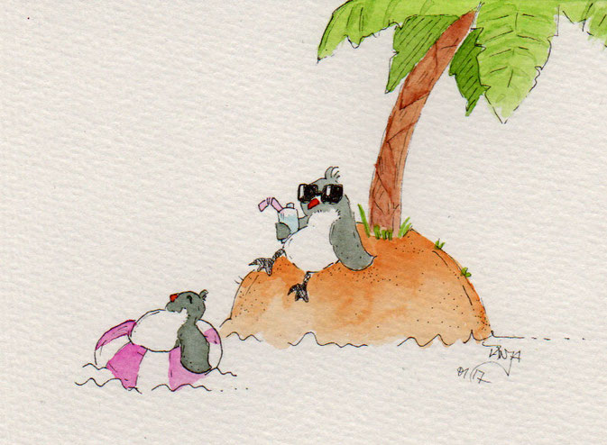 365-Tage-Doodle-Challenge - Stichwort: Pinguine