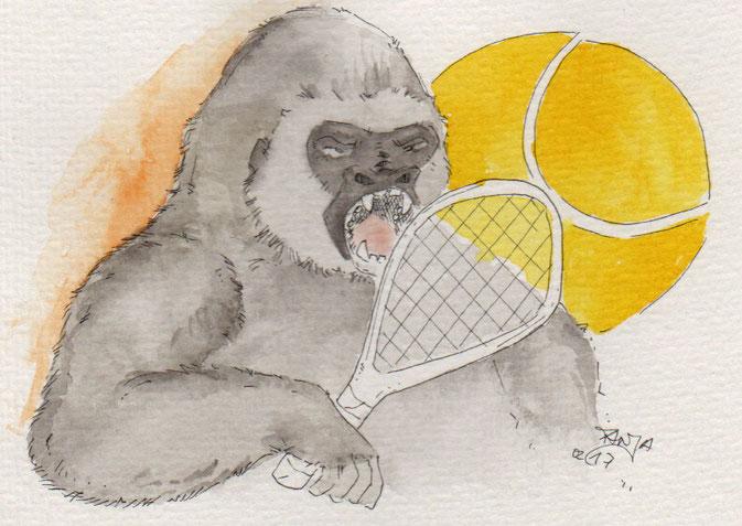 365-Tage-Doodle-Challenge - Stichwort: Tennis