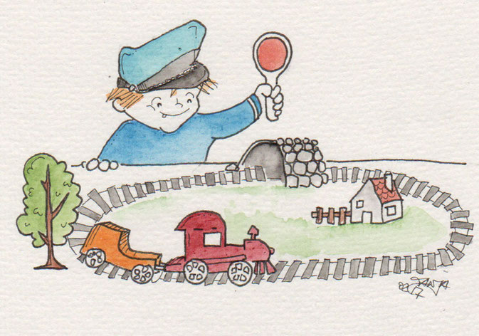 365-Tage-Doodle-Challenge - Stichwort: Eisenbahn