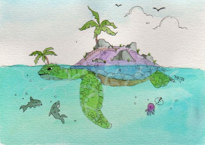 365-Tage-Doodle-Challenge - Stichwort: Insel