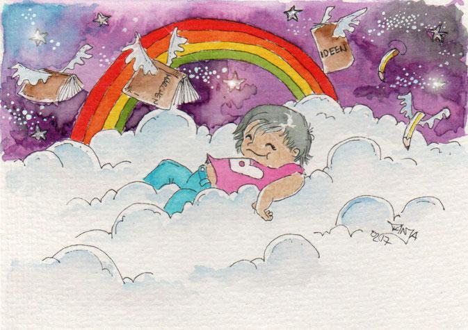 365-Tage-Doodle-Challenge - Stichwort: Wolken