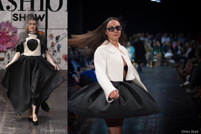 Schwarz-Weiß-Outfits von Tuschimo