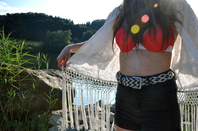 Sommer Endspurt Outfit Bikini Kimono Shorts Sandalen Strand Modeblog Fairy Tale Gone Realistic Passau Bayern Deuschland Fashionblog München