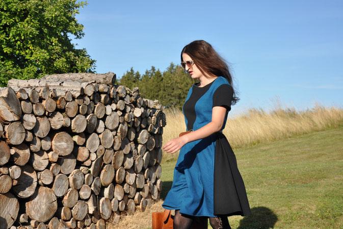 herbst Kleid selbstgenäht burda style modeblog fairy tale gone realistic passau