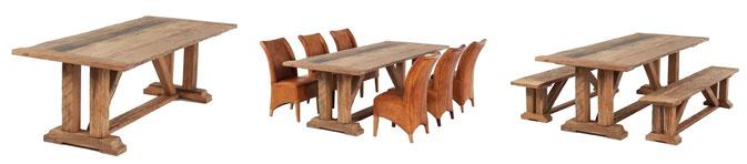 Klassischer Esstisch aus alter Eiche
