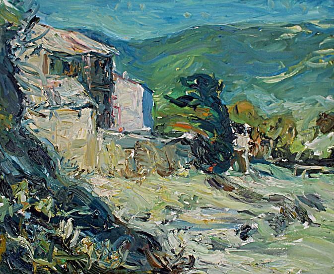 Landschaft bei Banon   2004, Öl auf LW, 46 cm x 55 cm