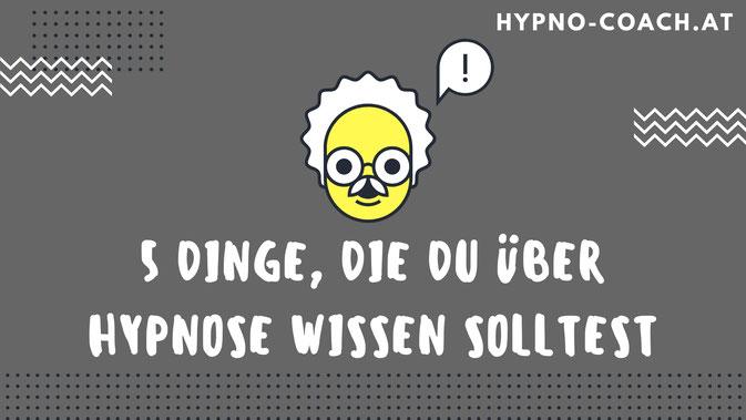 5 Dinge, die du über Hypnose wissen solltest