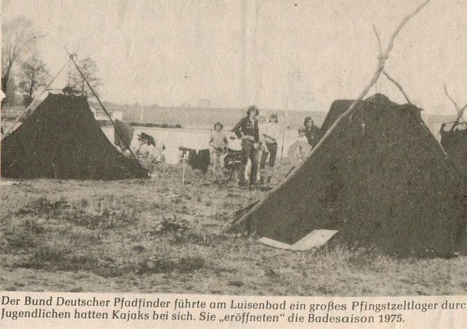 Bild: Am Mühlenteich Anbaden 1975