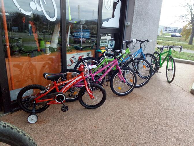 toute une gamme de draisienne et vélos juniors de 12 à 26 pouces