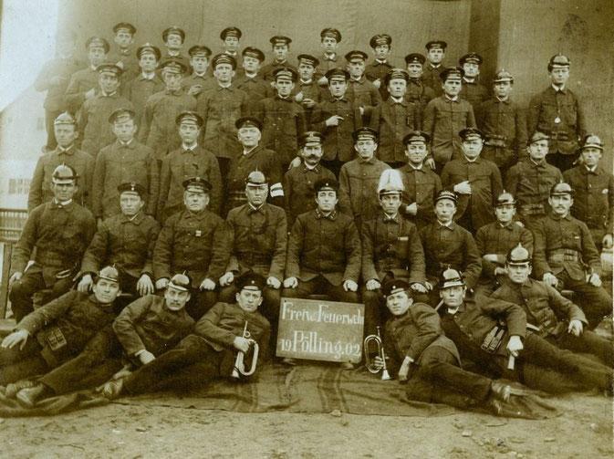 Bild: Feuerwehr Pölling Vorgänger 1902