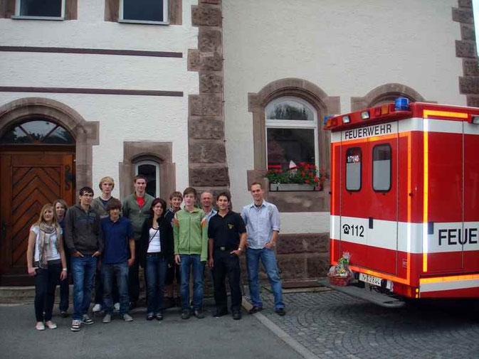 Bild: Feuerwehr Pölling Jugendgruppe Besichtigung Berufsfeuerwehr