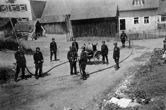Bild: Pölling Feuerwehr Vorgänger Übung