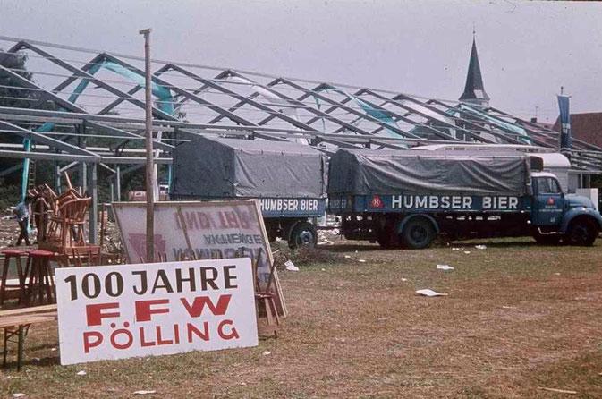 Bild: Feuerwehrfest Pölling 1972