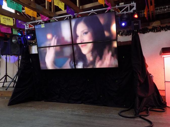dj, karaoke, video wall, luz y sonido para fiestas y eventos