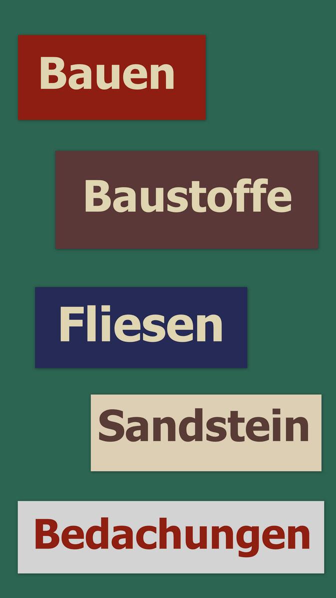 Bauen, Baustoffe, Fliesen, Sandstein, Werbegemeinschaft, Billerbeck, WG Billerbeck
