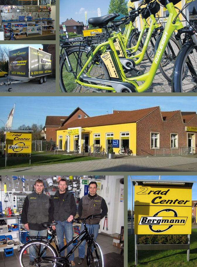 2 Rad, Fahrräder, Billerbeck, Bergmann, Werbegemeinschaft, Billerbeck, WG, Elektroräder