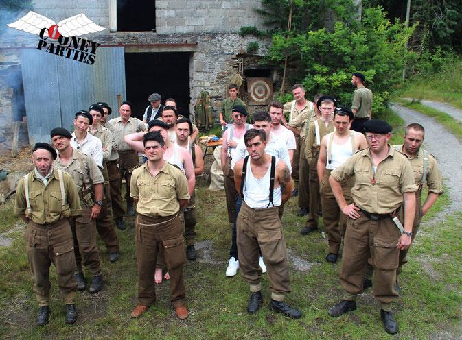 Les quatre équipes SAS qui ont participés à la Battle Course - Photo Cooney-Parties