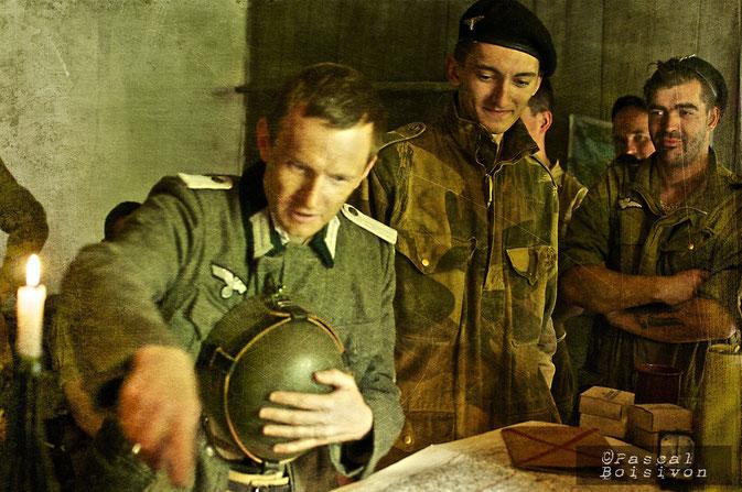 Quand le prisonnier Allemand indique les positions de ses compatriotes sous la pression - Photo Pascal BOISIVON
