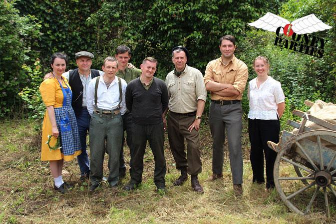 Staff Cooney-Parties entouré des survivants FFI - Photo Cooney-Parties