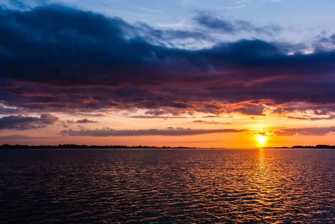 Sonnenuntergang in der dänischen Südsee