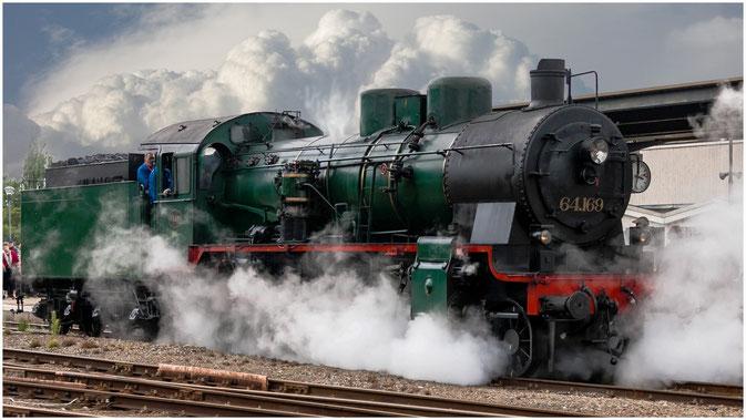 64.169, belgische Dampflok