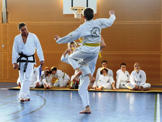 Traditioneller Freikampf Chayu Taeryon ohne Körperkontakt in der Taekwondo - Sportschule Adelzhausen, die TOP-Adresse im Landkreis Aichach-Friedberg