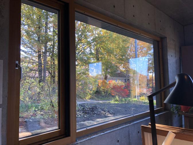11月5日、掃除後の窓の景色。