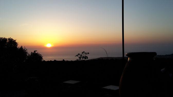 Romantischer Abend auf der Terrasse des Palazzu Pigna