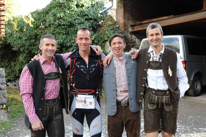 stehend von links: Toni, Welli, Lex und Franz