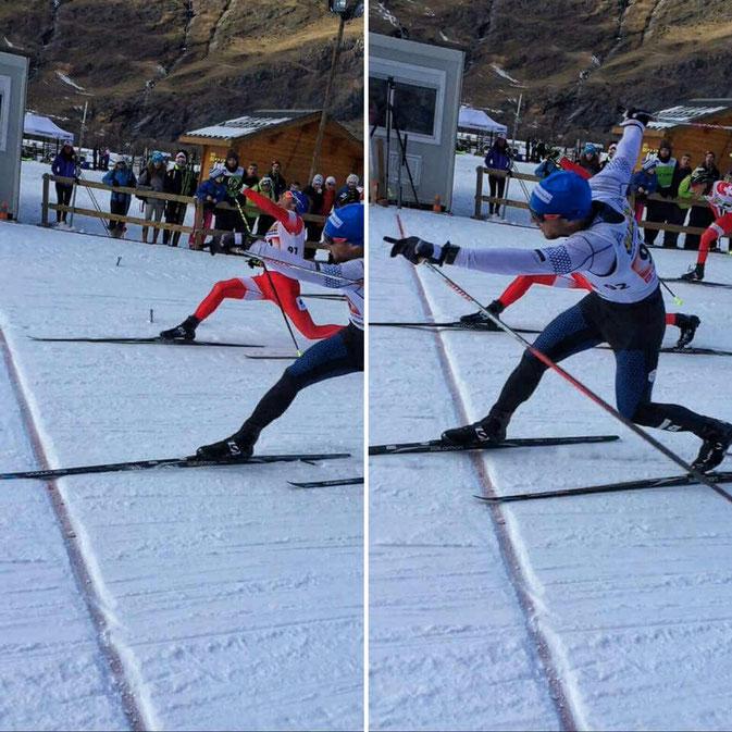 Efficace la nouvelle combinaison du Haute-Savoie Nordic Team ;)     Photo: Robin Pasteur