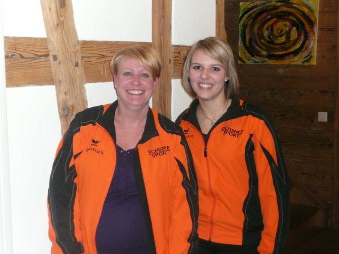 Links: Claudia Baumgartner, die Austretende aus dem Vorstand. Rechts: Julia Schneider, die neu gewählte Mädchenriegen-Hauptverantwortliche.