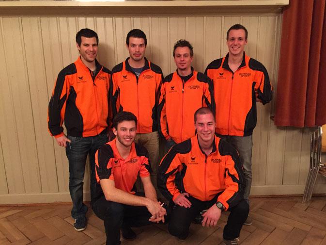 Von oben links: Rico Meier, Christof Meier, Matthias Schär, Jan Fischer. Von unten links: Urs Stalder, Fabian Widmer