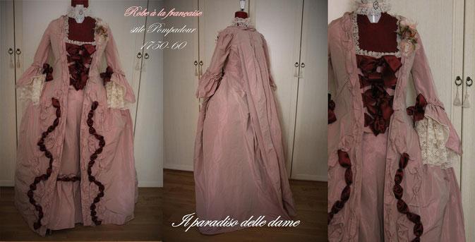Robe à la française - Stile Pompadour