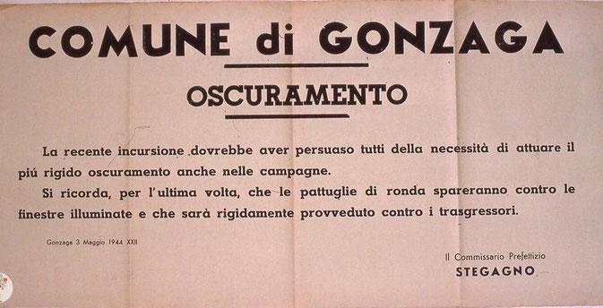 Manifesto nel comune di Gonzaga (Mn)
