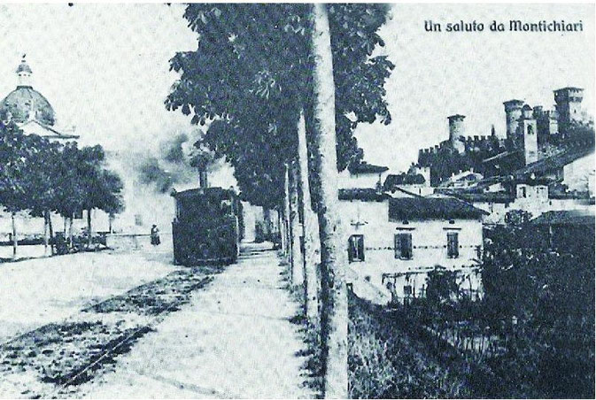 Linea del tram che passava da Montichiari