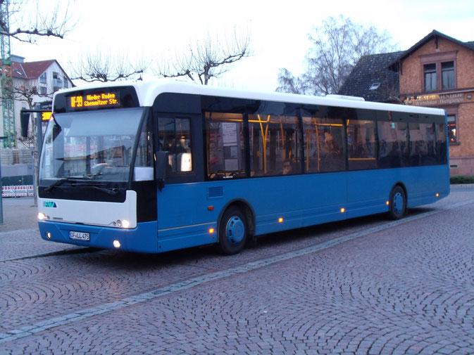 """Vom Kennzeichen her eindeutig Lang zuzuordnen ist dieser VDL Ambassador 200, der über """"BusStore"""" (EvoBus) kam und von Hüther & Junkes aus Homburg/Saar stammt."""