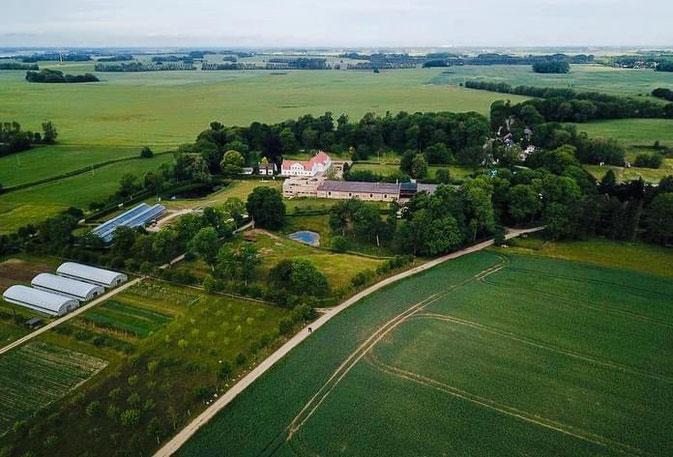 Luftbildaufnahme von Gut Rosengarten