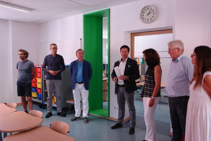 OB Thumann erläutert die Maßnahmen, Foto: Dr. Franz Janka