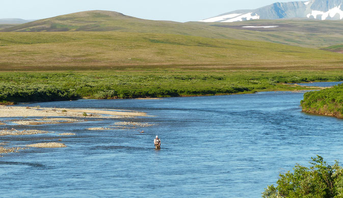 Flyfishing Moraine Creek Alaska