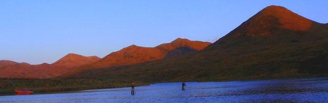 Flyfishing floattrip Karluk River Kodiak Alaska