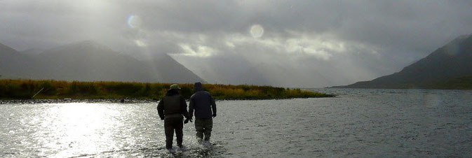 Flyfishing at Karluk River, Kodiak