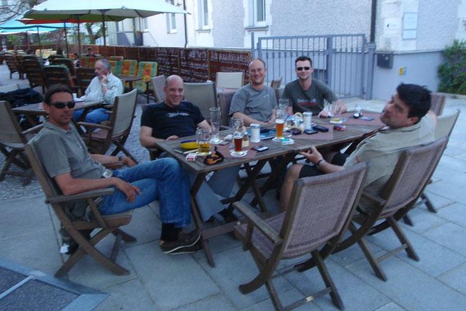 Christoph, moi, Mazzo, Volki, Jochen (Rolando on cam)