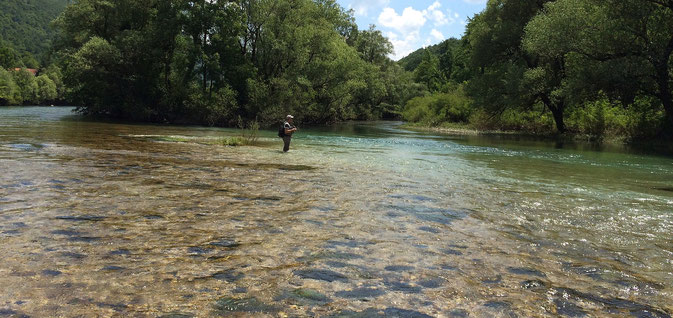 flyfishing Una Bosnia